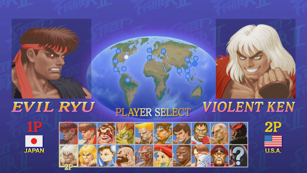 Ultra Street Fighter 2 Player Select