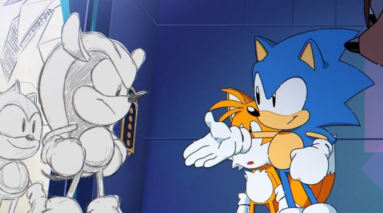 Sonic meets Mighty and Ray - Sonic Mania Plus