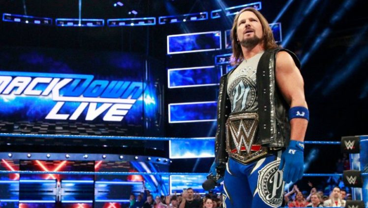 WWE Champion A.J. Styles on Smackdown Live