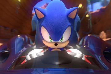 team sonic racing - sonic in car