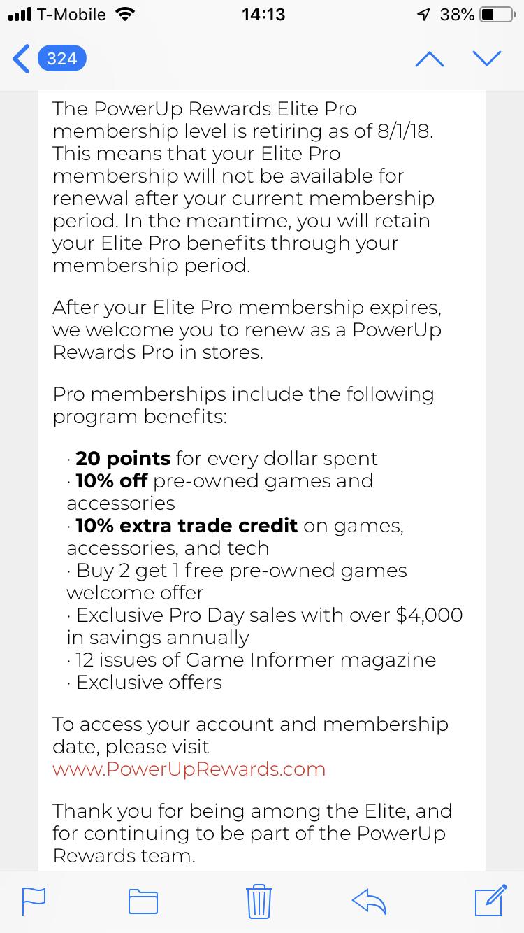 Gamestop ends the Powerup Rewards Elite Pro