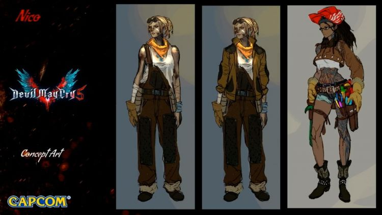 Devil May Cry 5 early nico designs 2
