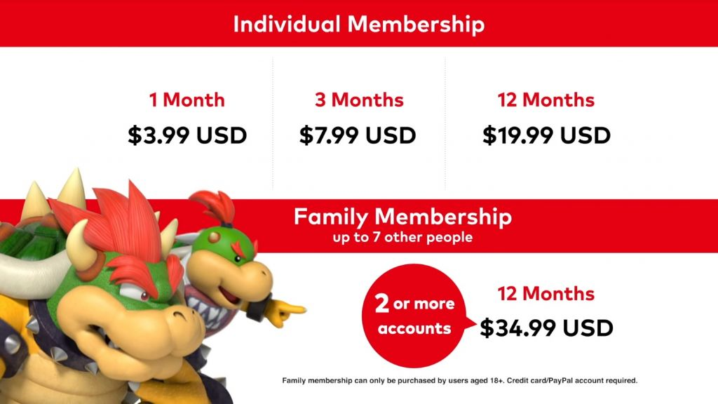 Nintendo Switch One pricing details