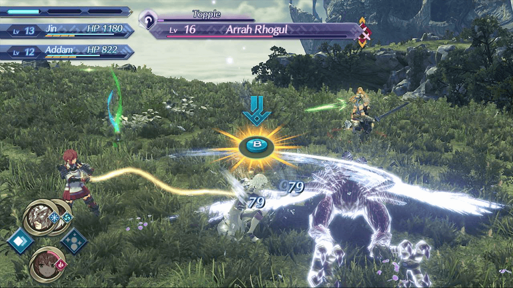 Xenoblade Chronicles 2: Torna - The Golden Country  battle scene