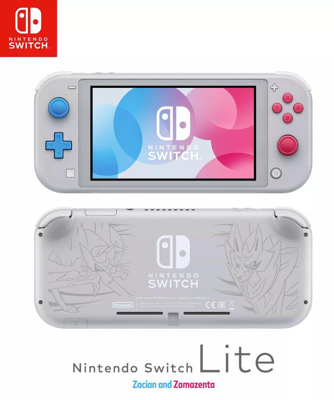 Pokemon Sword and Shield's Zacian and Zamazenta Nintendo Switch Lite