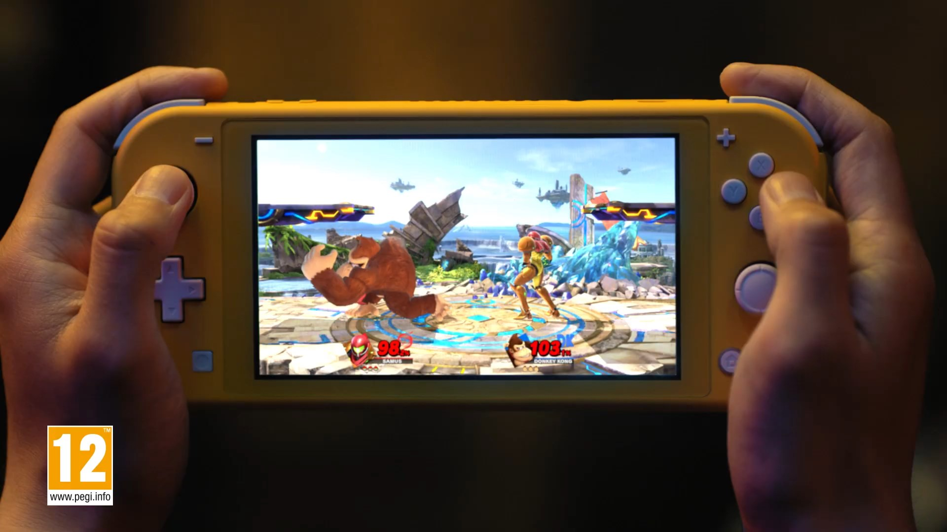 Nintendo Switch Lite Playing SSBU
