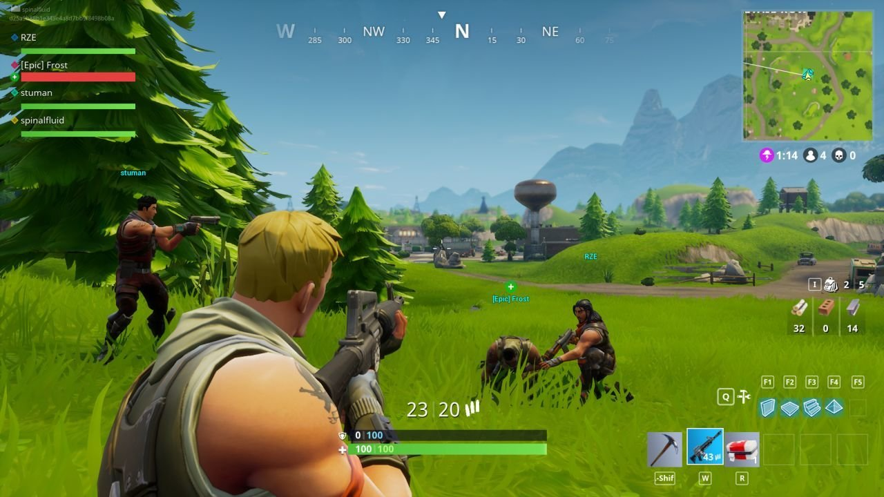 fornite trying to survive