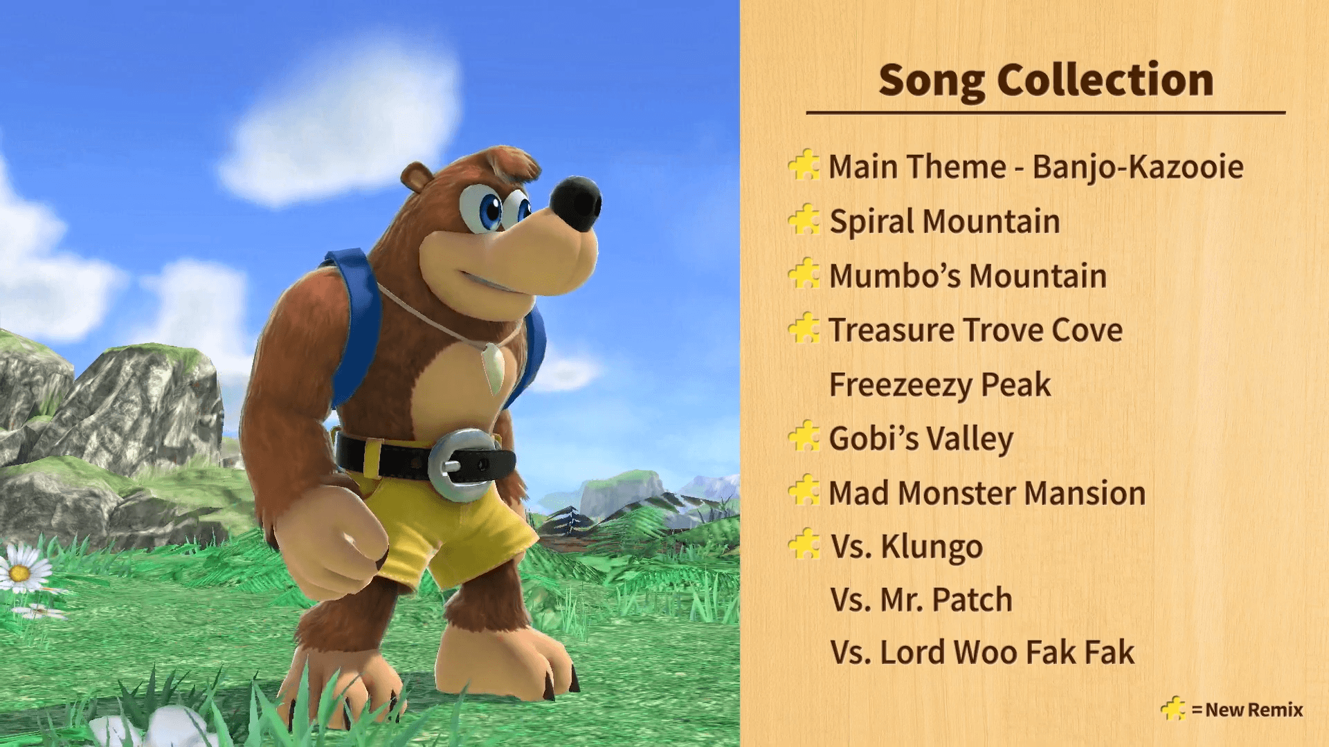 Banjo-Kazooie, Sans, and Home Run Contest Arrive in Smash